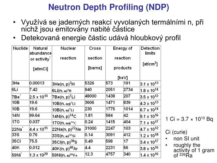 Využívá se jaderných reakcí vyvolaných termálními n, při nichž jsou emitovány nabité částice
