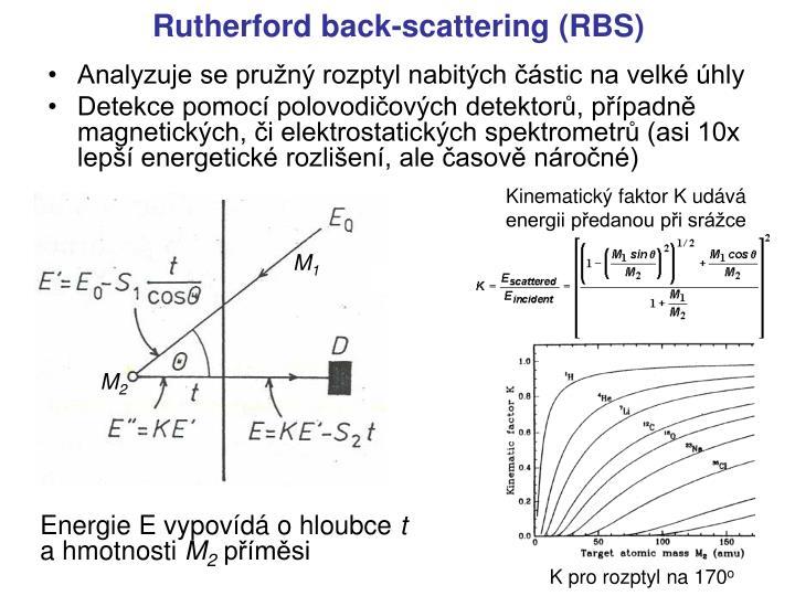 Analyzuje se pružný rozptyl nabitých částic na velké úhly