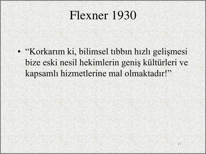 Flexner 1930