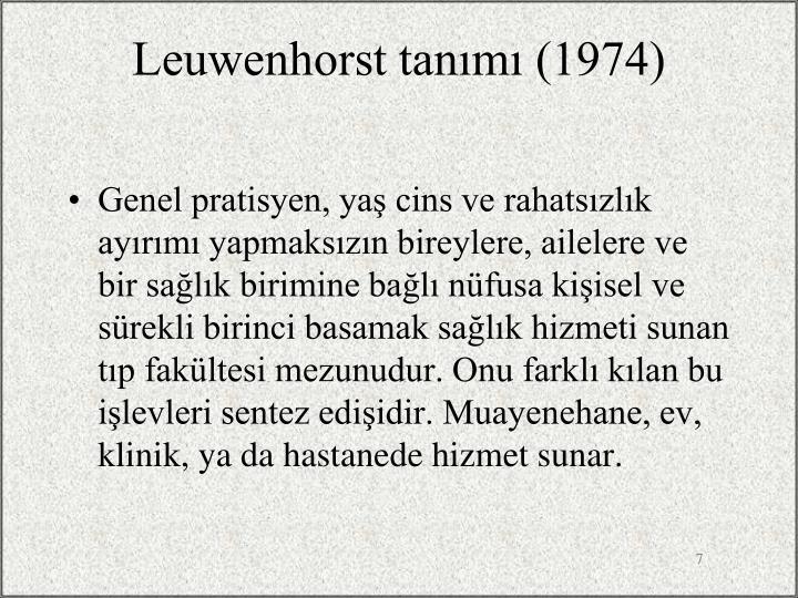 Leuwenhorst tanımı (1974)