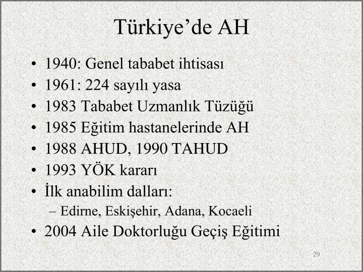 Türkiye'de AH