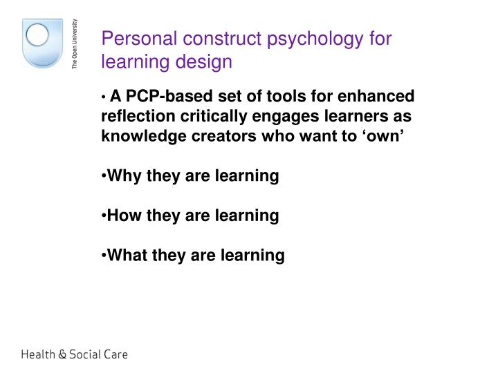 Personal construct psychology for