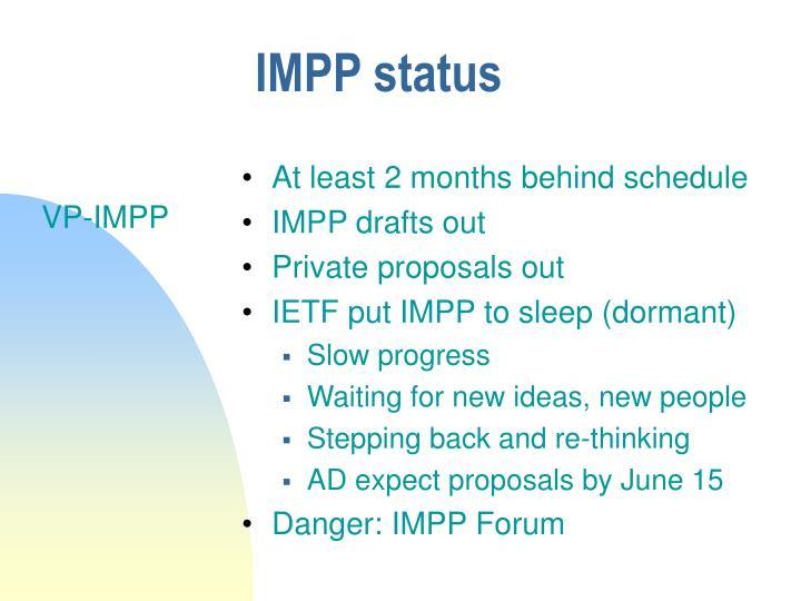 IMPP status