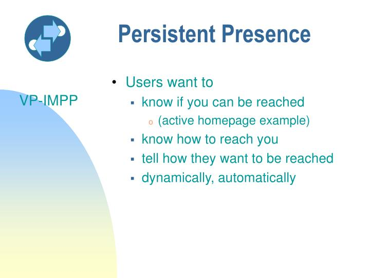 Persistent Presence