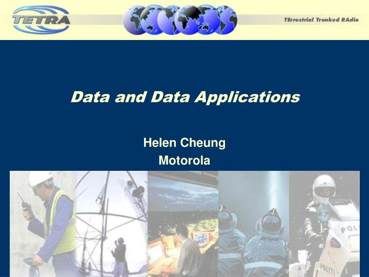 Data and data applications