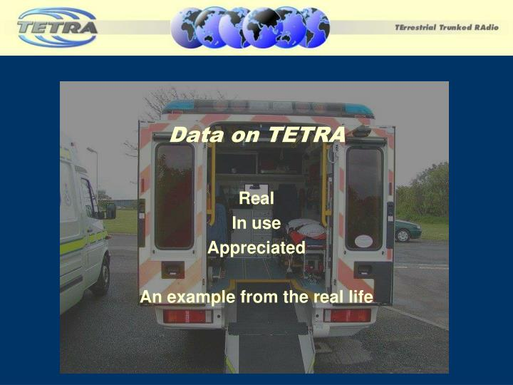 Data on TETRA