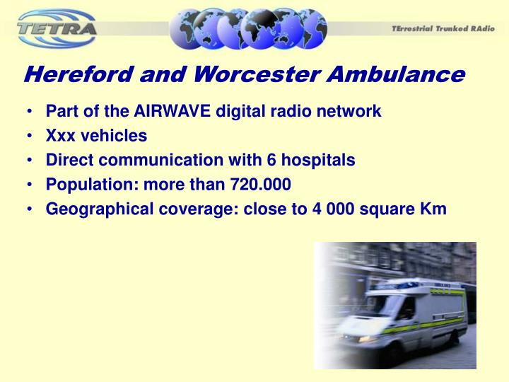 Hereford and Worcester Ambulance