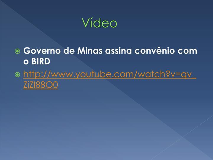 Governo de Minas assina convênio com o BIRD