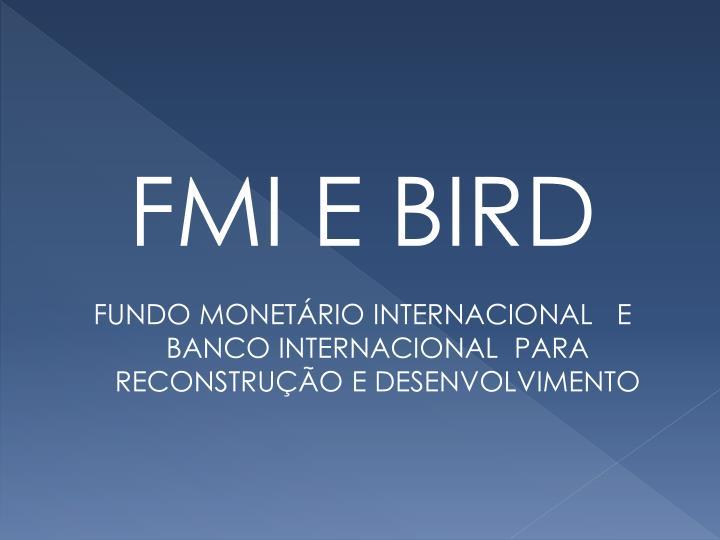 FMI E BIRD