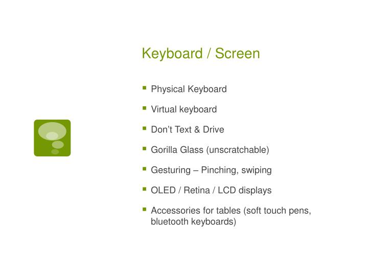 Keyboard / Screen