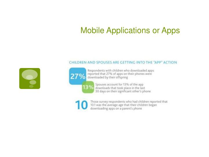 Mobile Applications or Apps