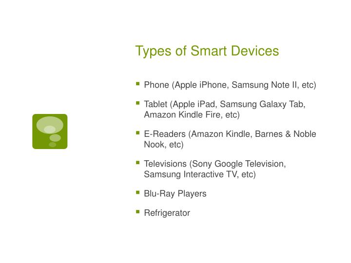 Types of smart devices