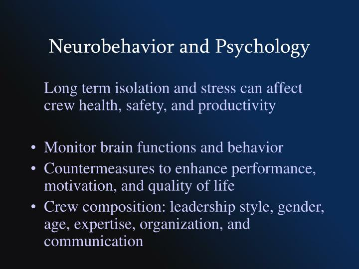 Neurobehavior and Psychology