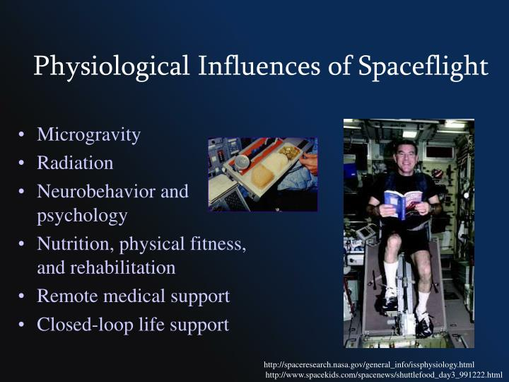 Physiological influences of spaceflight