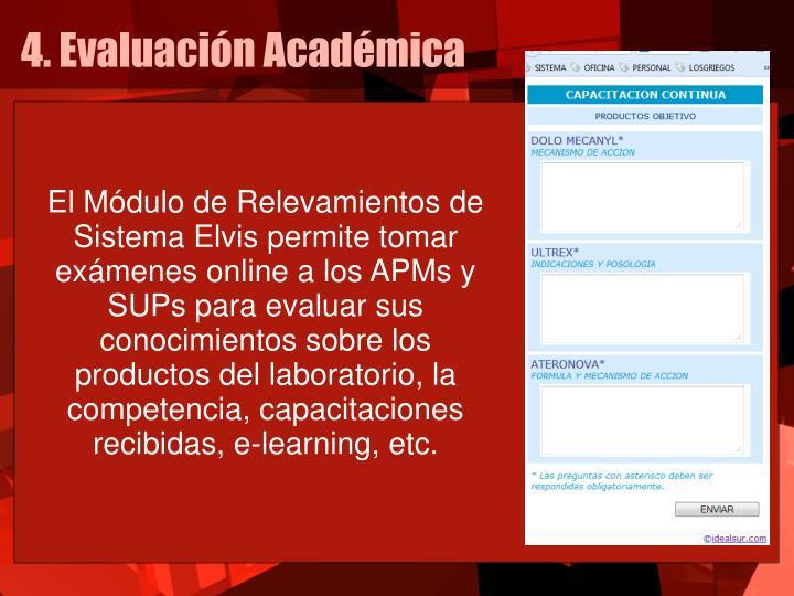 4. Evaluación Académica