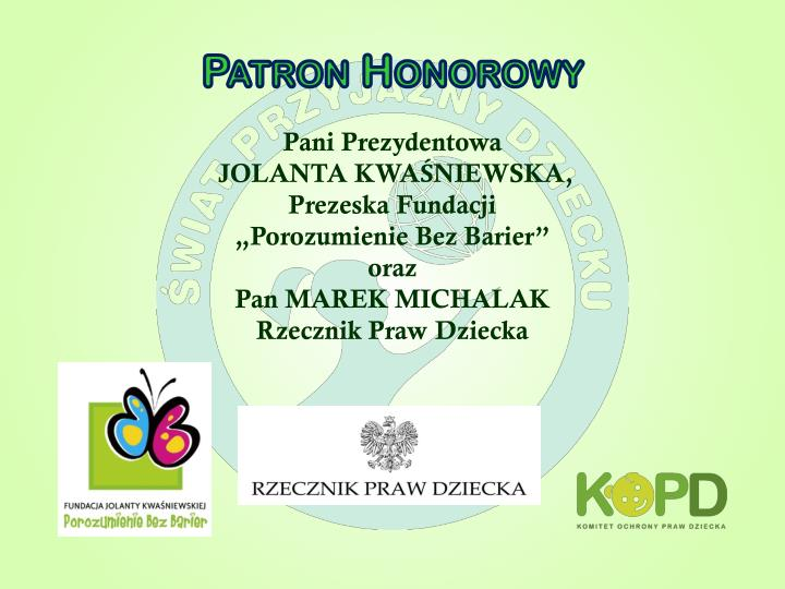 Patron Honorowy