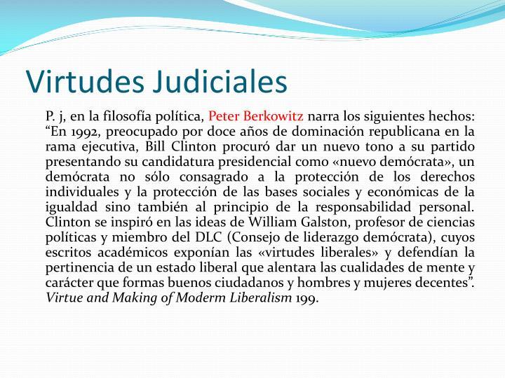 Virtudes Judiciales