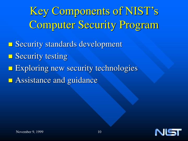 Key Components of NIST's Computer Security Program