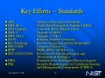 key efforts standards
