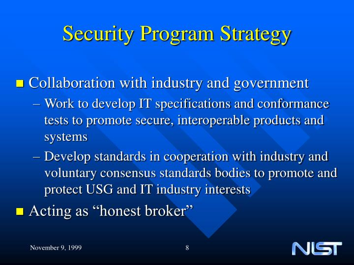 Security Program Strategy