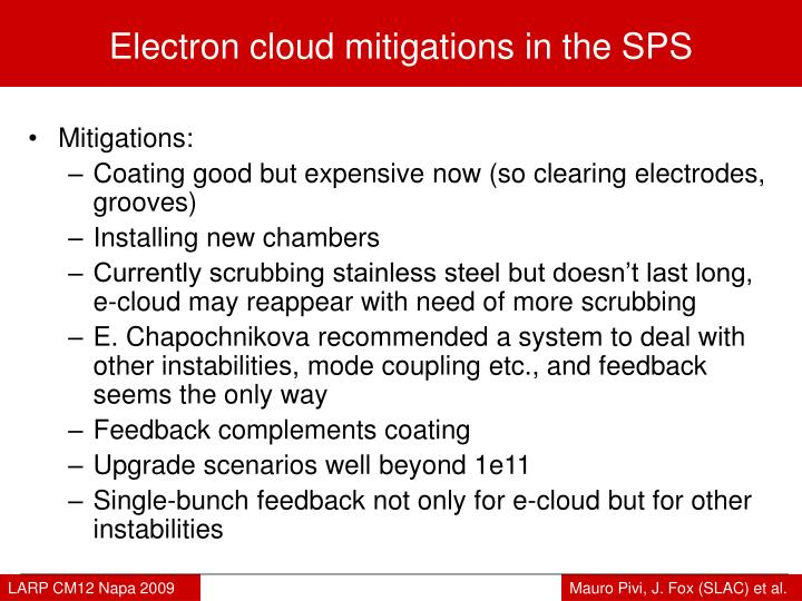 Electron cloud mitigations in the SPS