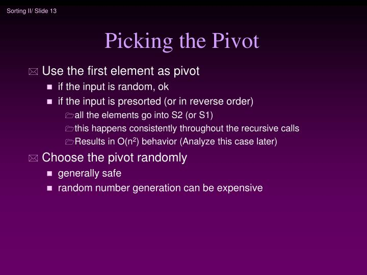 Picking the Pivot