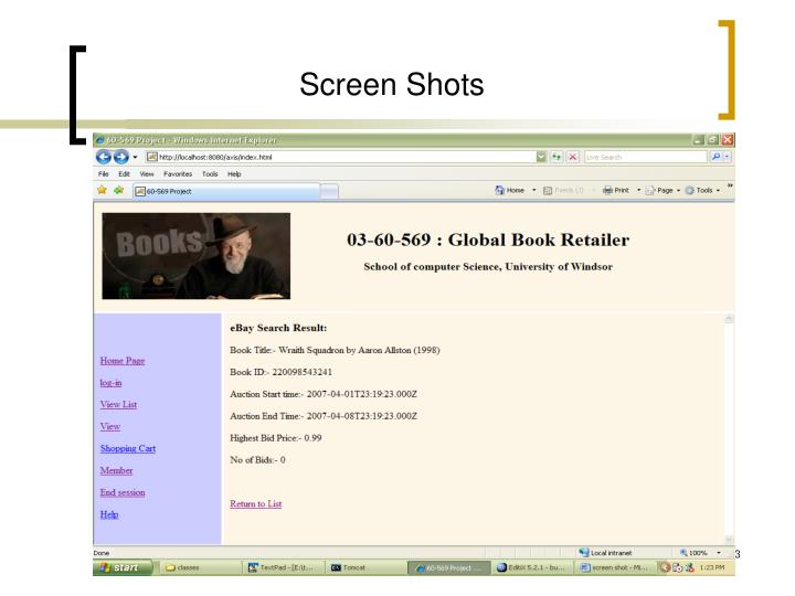 Screen Shots