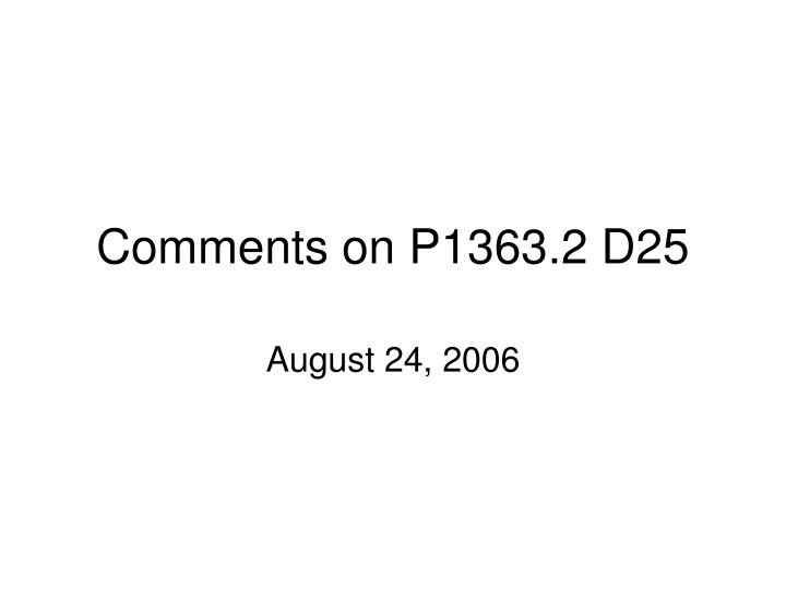 Comments on p1363 2 d25