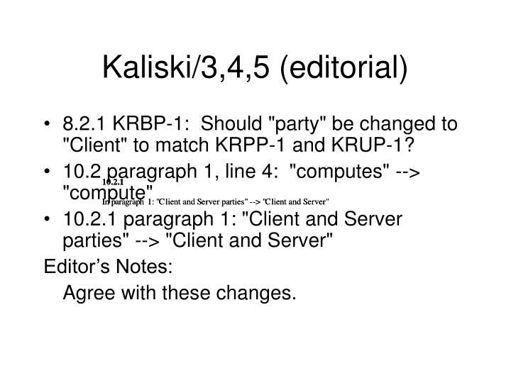 Kaliski/3,4,5 (editorial)