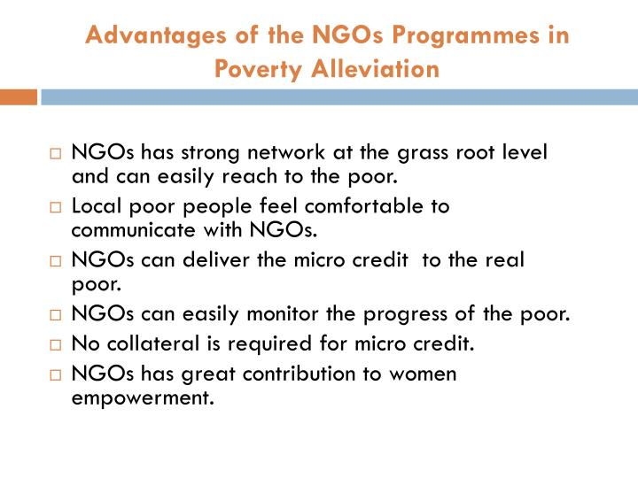 Advantages of the NGOs