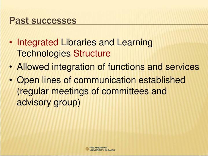 Past successes
