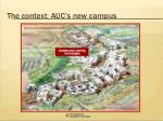 the context auc s new campus1