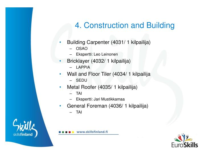 4. Construction and Building