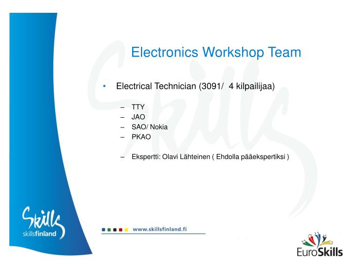 Electronics Workshop Team