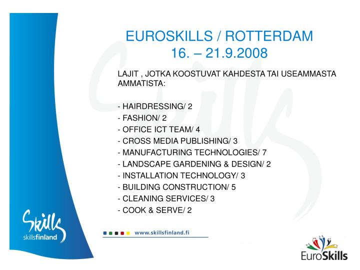 EUROSKILLS / ROTTERDAM