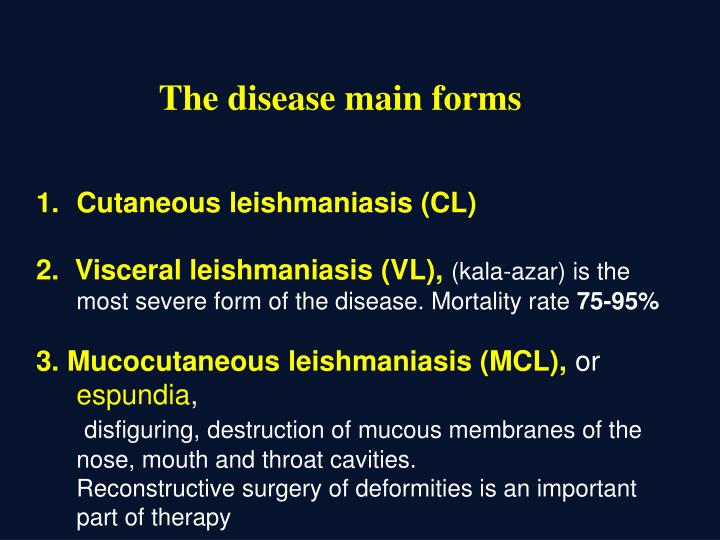 The disease main forms
