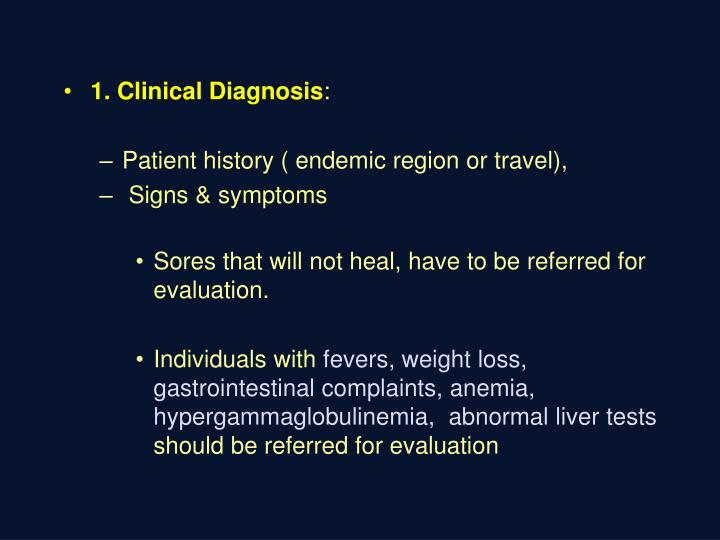 1. Clinical Diagnosis