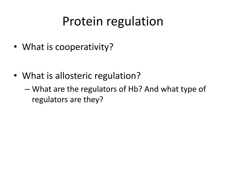 Protein regulation