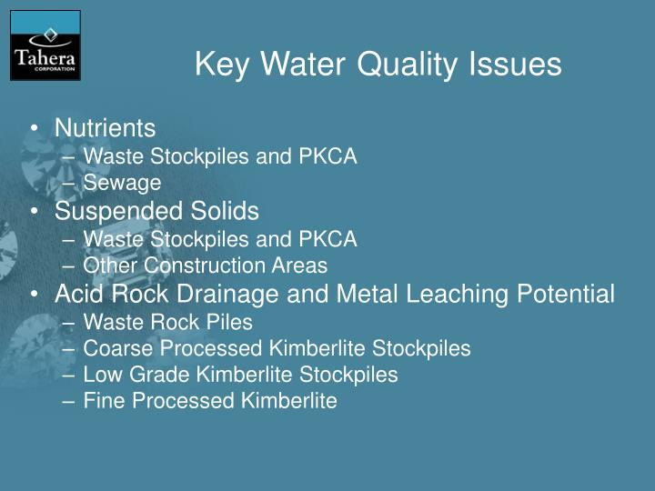 PPT The Water Part I Mine Water Quality and Site Water – Waste Management Ppt