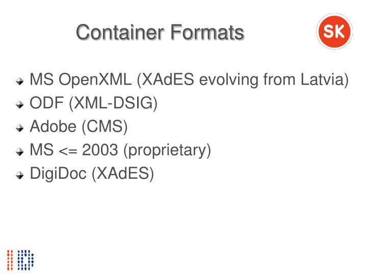 Container Formats