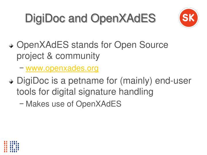 DigiDoc and OpenXAdES