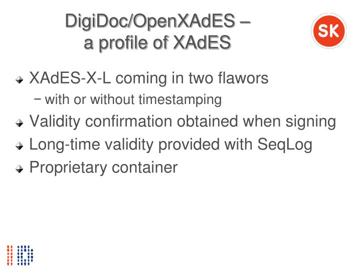 DigiDoc/OpenXAdES –