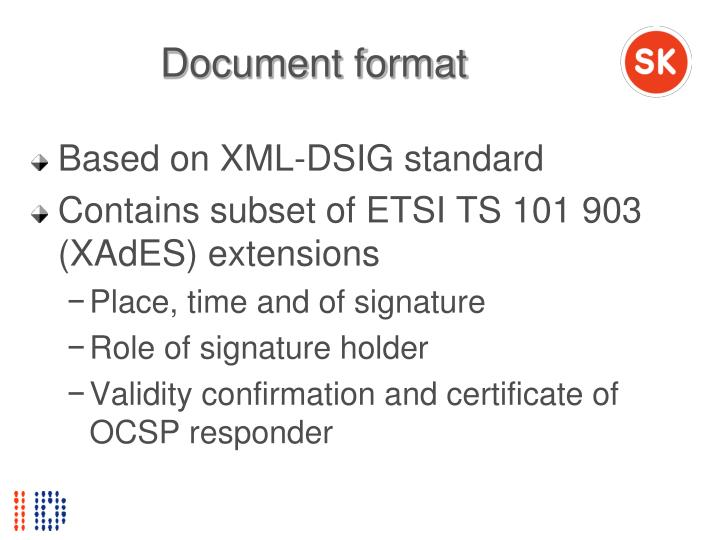 Document format