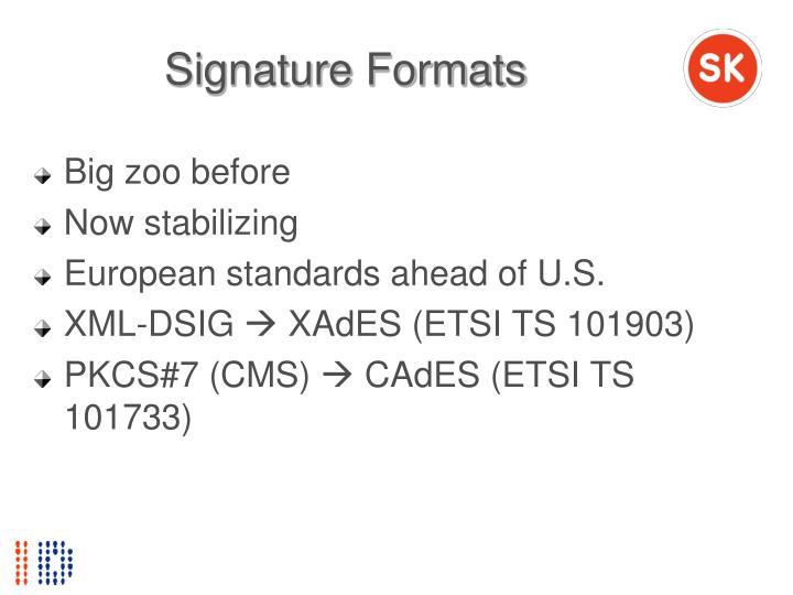 Signature Formats