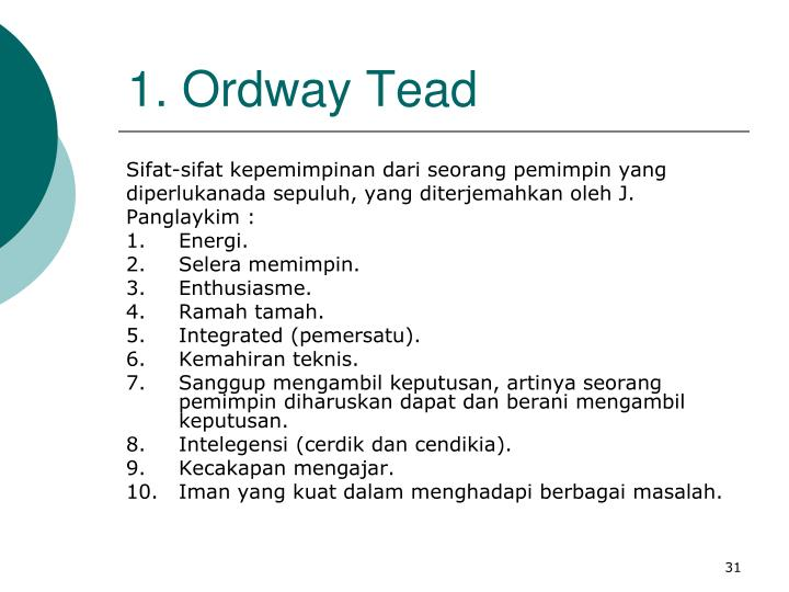1. Ordway Tead