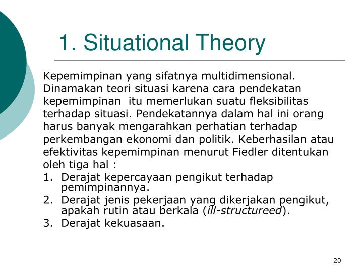 1. Situational Theory