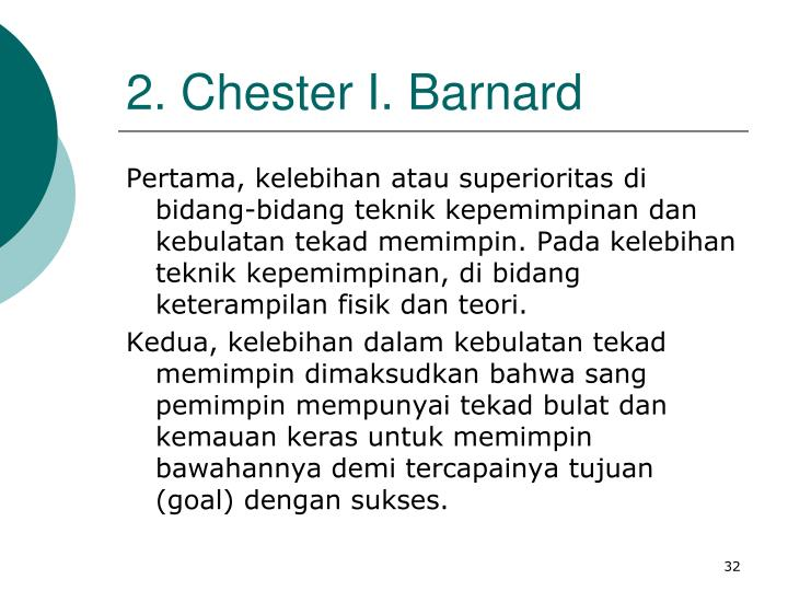 2. Chester I. Barnard