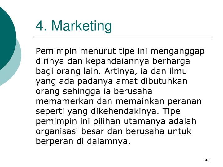 4. Marketing