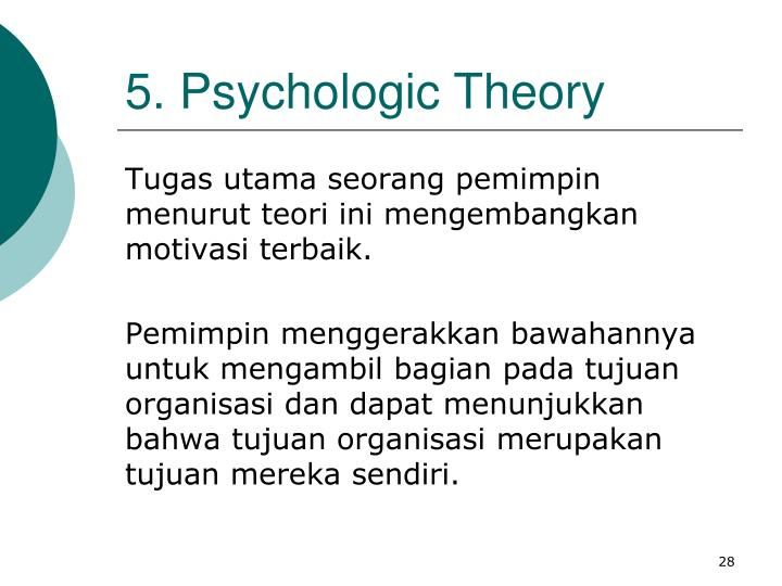 5. Psychologic Theory