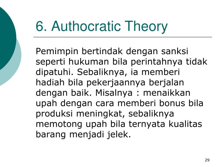 6. Authocratic Theory